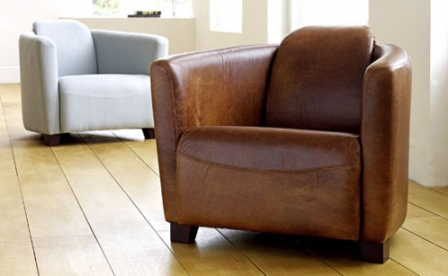 Hudson Leather Tub Chair