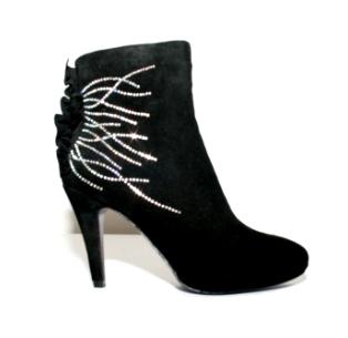 Second Tread Footwear Ankle Black Swede Boot