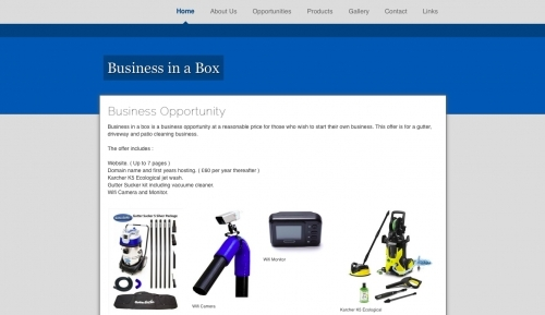 www.businessinabox.jimdo.com website