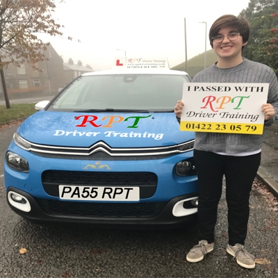 RPT Driver Training Driving Lessons Halifax Freya Haslam
