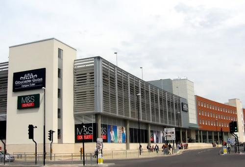 Gloucester Quays Shopping Centre with numerous profiles and drainage channel systems supplied
