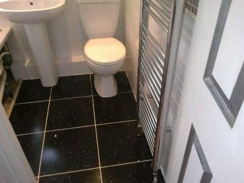 Floor tiling work on completion