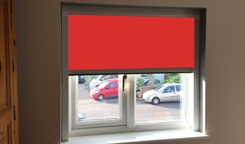 Carnival Red Blocout Blinds