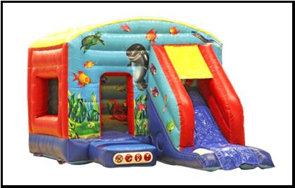 Undersea Slide 12x18 Bouncy Castle