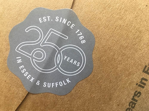 250th anniversary logo for Fenn Wright