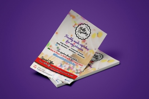 Cupcake Baker Based In London Creative Leaflet Flyers