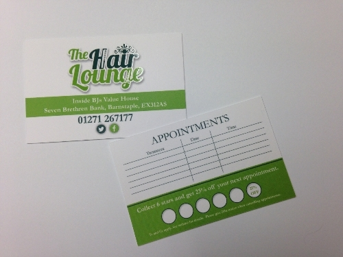 Appointment Cards for The Hair Lounge