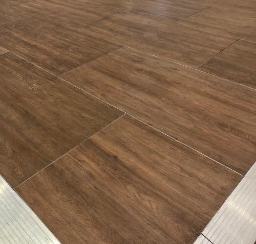 Wood effect dance floor