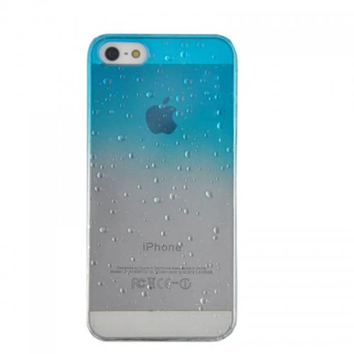 Rain drop design case cover for iPhone 5S--Light Blue - Aulola.co.uk