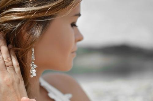 Gold Earrings By Silver Aura Jewellery In UK