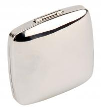 Engraved Silver Square Compact Mirror