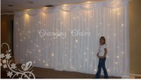 Twinkling light curtain backdrop