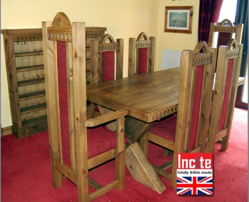 Gothic Style Dining room furniture custom made by Incite Interiors Derbyshire