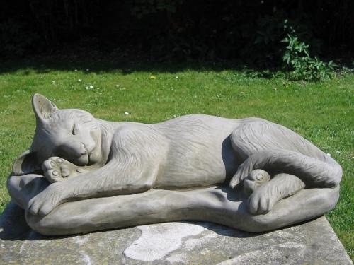Sleeping Cat Statue
