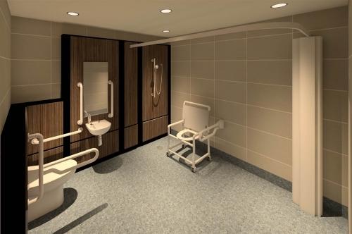 Hospital Extension Disabled Bathroom Visual