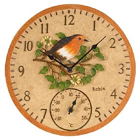 Robin Clock/Thermometer