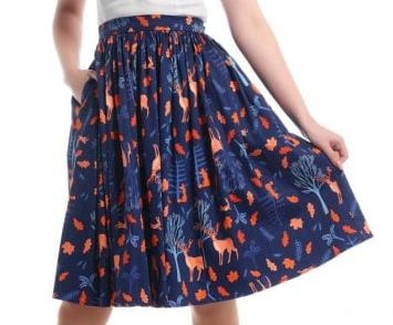 Collectif Forest Friends Swing Skirt