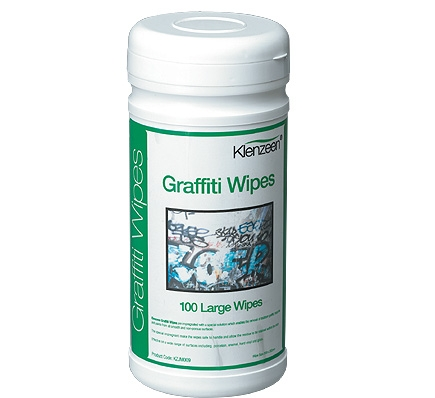 Graffiti Wipes- Tub of 100 large strong wipes, quickly removes inks and paints.