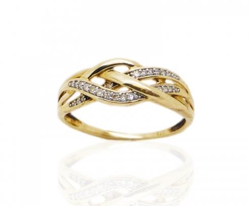 9 ct Yellow Gold Diamond Ring