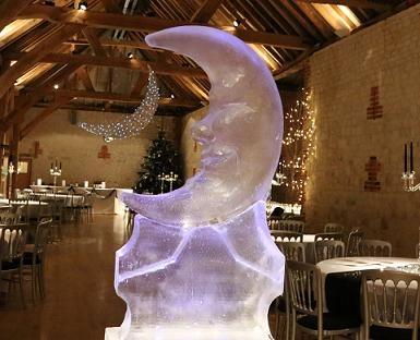 Moon Face Ice Sculptue Vodka Luge
