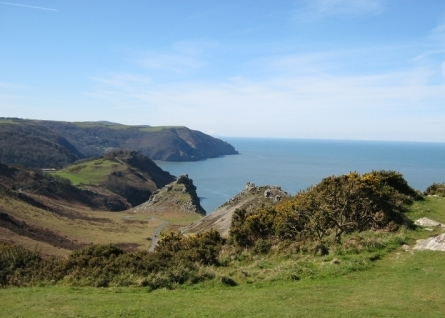 View over The Valley of Rocks