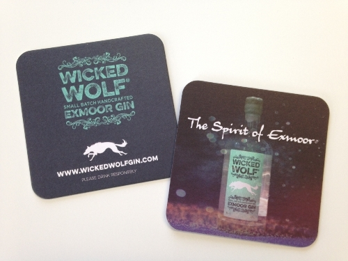 Wicked Wolf Gin Beer Mats