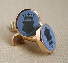 Gold Sardonyx Set Cufflinks