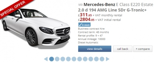 Mercedes - Benz E Class E220 Estate 2.0d 194 AMG Line 5dr G-Tronic+