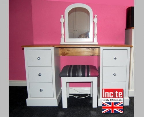 Bespoke Painted Bedroom Dresser And Mirror custom made by Incite Interiors Derbyshire