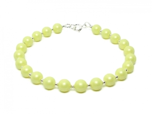 Mother Bride Wedding Jewellery With Pastel Lemon Swarovski Pearls