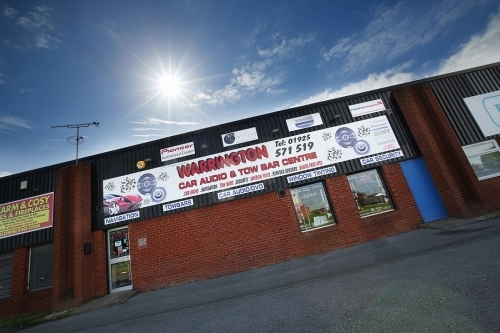 Warrington Car Audio and Towbar Centre from the outside