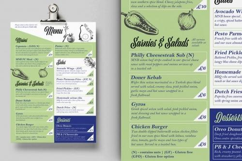 Make No Bones Vegan, Plant-Based Menu Design