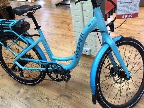 Full range of Wisper E-Bikes too
