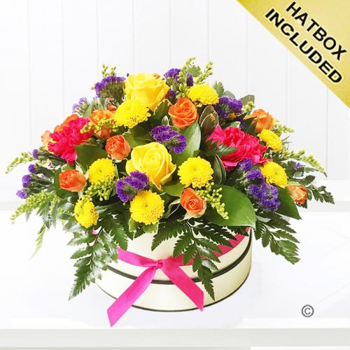 Citrus flower hat box