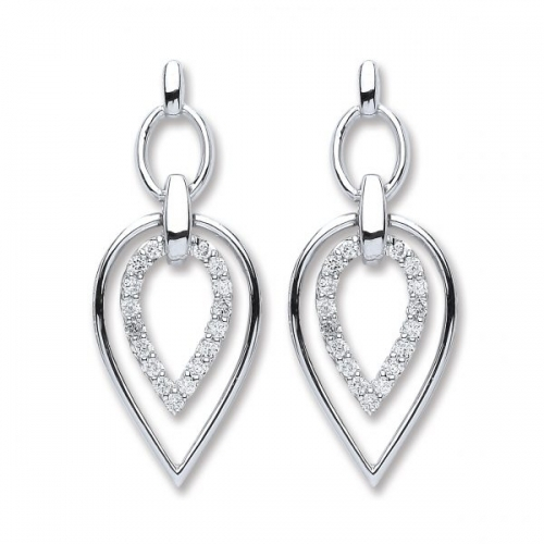 Diamond Earrings By Silver Aura Jewellery - Sader00084 600x600