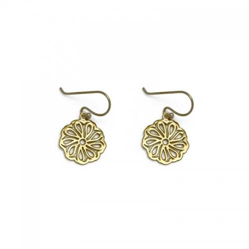 gold filled 18kt celtic inspired earrings