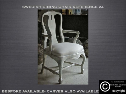 Swedish style dining chairs reference 24 many variations available. www.bespokefurnituremakers.company