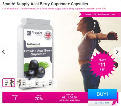 3mnth Supply Acai Berry Supreme+ Capsules.