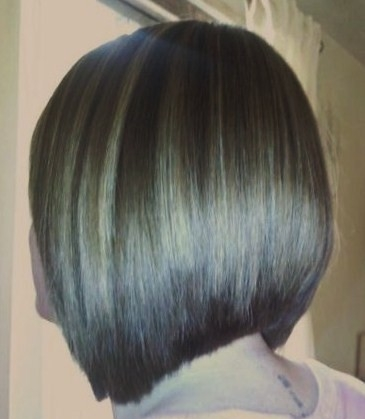 concave bob with chocolate and caramel low lights