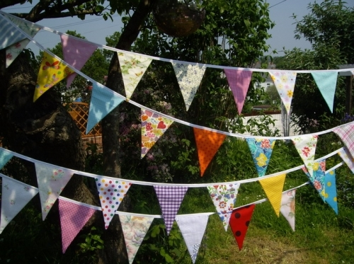 Vintage style large double sided Bunting