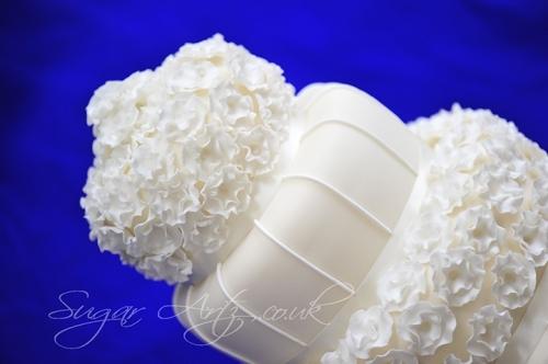 Sugar Blossoms Wedding Cake Slanted
