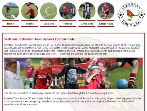 Ilkeston Town Juniors Football Club - no longer live!