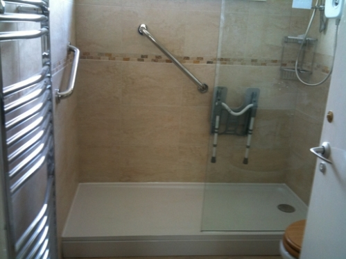 Shower room for OAP in Milton Keynes