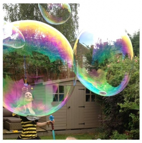 Bubbles at Toms Bee Party in Barnes