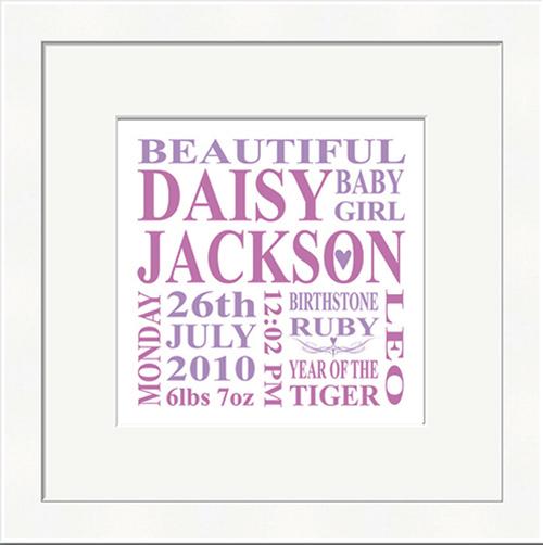 Personalised Baby Girl NameArt