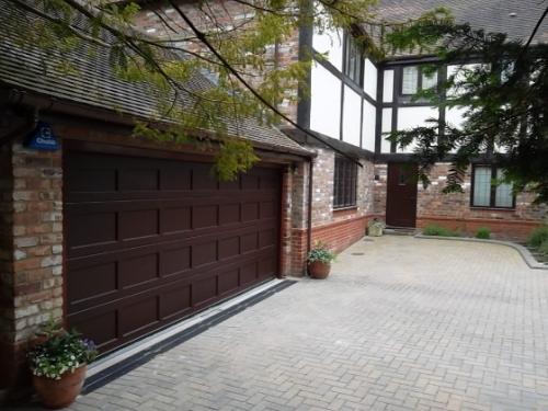 Cedar Timber Sectional Door installed in Camberley Surrey