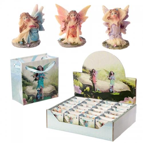 Mini Flower Fairy Figurine in a Gift Bag