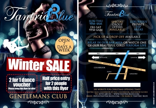Winter Sale Flyer. Print Off For 2 For 1 Dances Or Half Price Entry