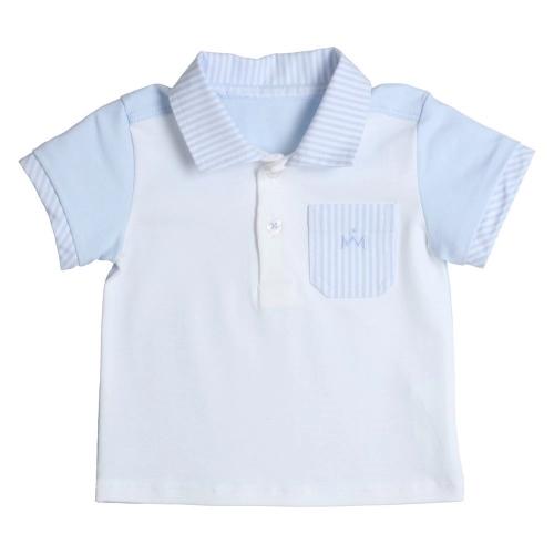 Gymp Boys Pale Blue & White Polo Shirt