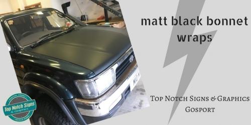 Matt Black Bonnet Wraps